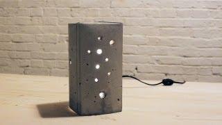 getlinkyoutube.com-HomeMade Modern, Episode 6 -- DIY Concrete Lamp