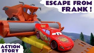 getlinkyoutube.com-CARS Escape From Frank Toy Story & Funny Tractor Tipping Play Doh  Fun Kids Toys Unboxing Play