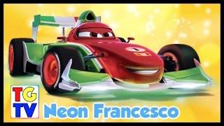getlinkyoutube.com-Disney Pixar Cars Francesco vs Mater, Komodo, Chick Hicks | Cars Fast as Lightning