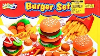 getlinkyoutube.com-Doh-Dough Burger Set: Chicken Nuggets French Fries Play Dough - Like Play-Doh