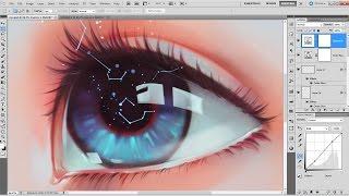 getlinkyoutube.com-Photoshop Speed-Painting - Constellation Eye