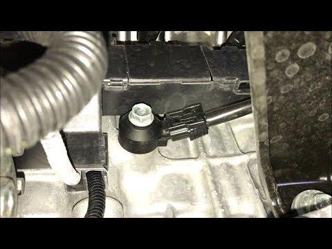 Расположение в Акура СЛ датчика детонации