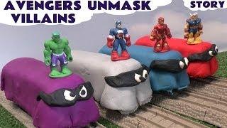 getlinkyoutube.com-Thomas The Train Play Doh Avengers Captain America Iron Man Thor Hulk Toy Trains Marvel Villain