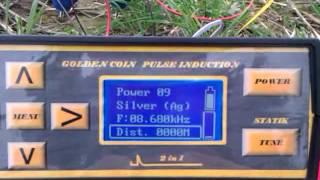 getlinkyoutube.com-Metaldetector Golden coin pulse induction 2 in 1 Long range locator