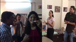 Daya Abhijit Celebrated Tarika's Birthday - CID - 14th April 2018