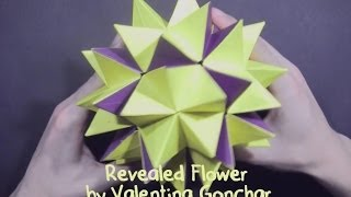 getlinkyoutube.com-Kusudama Revealed Flower by Valentina Gonchar (part 2 of 2)  - Yakomoga Origami tutorial