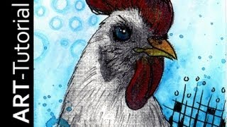 getlinkyoutube.com-Malen mit Isabelle - Übung 1 mit Aquarellstiften und Halbtonraster