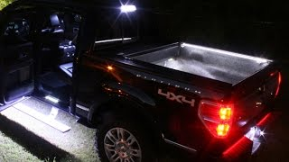 HOW TO INSTALL F150 LED BED LIGHTS F150LEDS.COM UNBOXING & INSTALL
