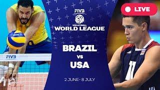 Brazil v USA - Group 1: 2017 FIVB Volleyball World League