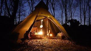 getlinkyoutube.com-無料キャンプ場で薪ストーブソロキャンプ