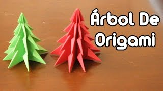 getlinkyoutube.com-Christmas Tree Origami / Árbol Navideño De Origami