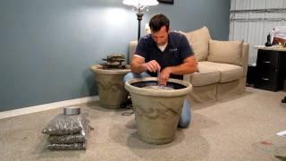 getlinkyoutube.com-Installing a Standard Aqua Rock Fountain Kit in a Decorative pot