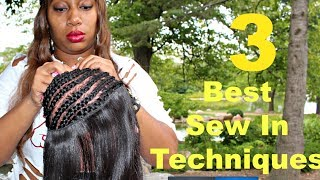getlinkyoutube.com-Full Sew in Weave | Hair Tutorial - 3 TECHNIQUES