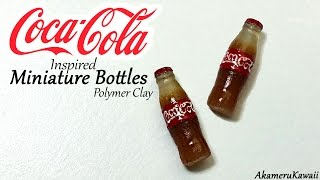 getlinkyoutube.com-Coca Cola inspired miniature bottles - Polymer clay tutorial
