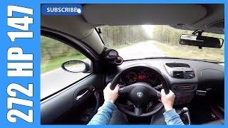 getlinkyoutube.com-POV 272 HP Alfa Romeo 147 1.9 JTD FAST! Drive Acceleration