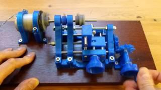 getlinkyoutube.com-3D Printed lathe in operation