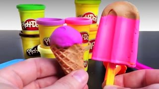 getlinkyoutube.com-Play Doh Ice cream cupcakes playset playdough by Unboxingsurpriseegg New shorter version