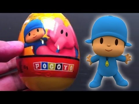 Surprise eggs Pocoyo Kinder Surprise Egg unboxing toy surprise