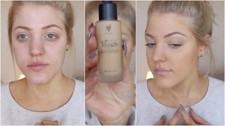 getlinkyoutube.com-Younique Mineral Touch Liquid Foundation | Review & Demo