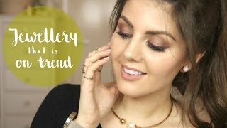 On Trend Jewellery Haul // Marble, Rose Gold, Open Front Necklaces, Midi Rings, Cuff Earrings