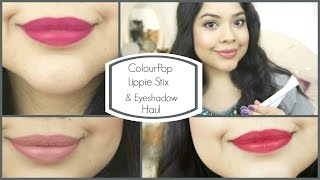 getlinkyoutube.com-Colour Pop Lippie Stix and Eyeshadow Swatches and Review