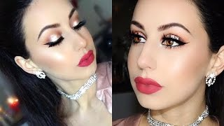 getlinkyoutube.com-Glamorous Glitter makeup tutorial