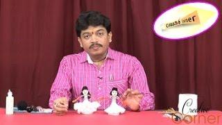 Creative Corner || How to Make Tissue paper Doll with Ice Cream Sticks