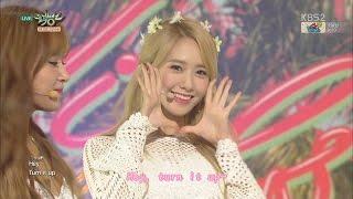 【LIVE中字】150724 原畫畫質 少女時代 snsd - Party @ KBS Music Bank Goodbye Stage