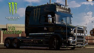 getlinkyoutube.com-Scania T Longline Monster Energy