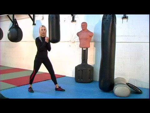 Women's Kickboxing Kicks : Women's Kickboxing: Back Leg Groin Kick