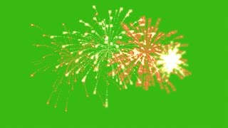 getlinkyoutube.com-Fireworks green screen effect pack 4. Футаж Салют & Фейерверк