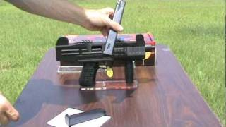 Uzi Replica Full Auto Blank Firing Machine Gun.mpg