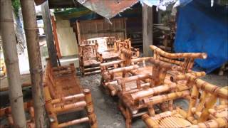 getlinkyoutube.com-Philippine handmade bamboo and mahogany furniture here!