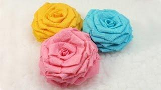 getlinkyoutube.com-DIY, Paper Flowers, Tutorial, DIY, Crepe Paper Roses