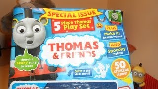 getlinkyoutube.com-Review of THOMAS THE TANK ENGINE and FRIENDS COMIC MAGAZINE+ FREE TOY TRAIN SET with ANNIE