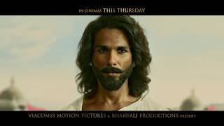 Padmaavat | In Cinemas This Thursday | Ranveer Singh | Deepika Padukone | Shahid Kapoor