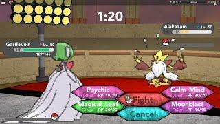 getlinkyoutube.com-Roblox Pokemon Brick Bronze |Mega Charizard, Mega Gardevoir VS Mega Alakazam (At the last part)