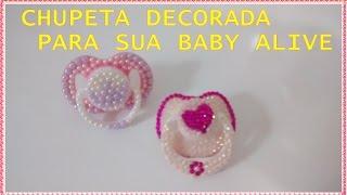 getlinkyoutube.com-COMO FAZER CHUPETA DECORADA PARA SUA BABY ALIVE - por Lívia Sturnik