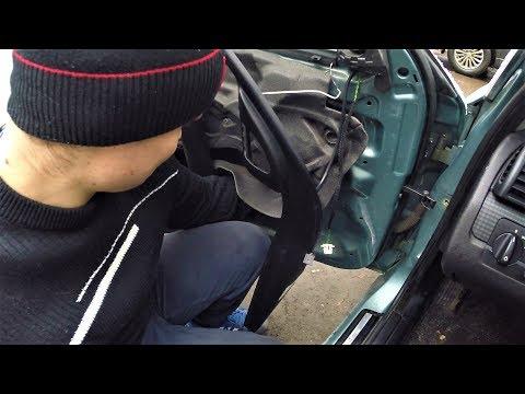 BMW E46 скрипит дверь! как разобрать карту двери!