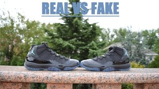 getlinkyoutube.com-Air Jordan 11 Retro GAMMA BLUE REAL VS FAKE COMPARISON RECENT FLAWS!!!