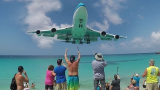 getlinkyoutube.com-30 Departures and Landings at St. Maarten (SXM) - Maho Beach ACTION