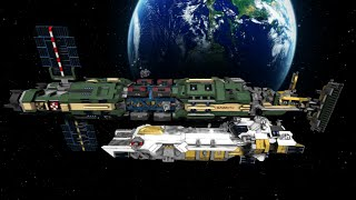 getlinkyoutube.com-Space Engineers: Mammoth capital ship - robotic eviscerator of asteroids