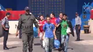 getlinkyoutube.com-حصري/ إطلاق سراح 817 سجين بسجن عكاشة بالدارالبيضاء شملهم العفو الملكي