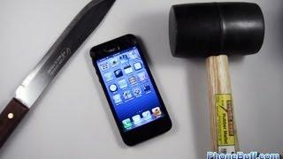 getlinkyoutube.com-Apple iPhone 5 Hammer Drop & Knife Scratch Test