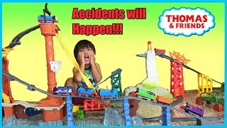 getlinkyoutube.com-Thomas and Friends Accidents will Happen Playtime Toy Trains Kid James Percy Gordon  Ryan ToysReview