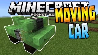 MOVING CARS in MCPE!!! - 1.0+ Slime Block Creation - Minecraft PE (Pocket Edition)