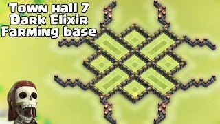 getlinkyoutube.com-Clash of clans - Town hall 7 (Th7) Dark Elixir Farming base 2015