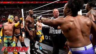 getlinkyoutube.com-The Prime Time Players & The Lucha Dragons vs. The New Day & Bo Dallas: Raw, June 29, 2015