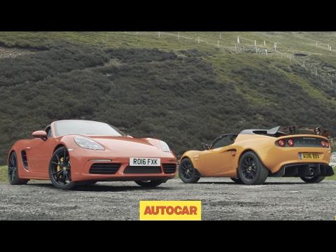 Porsche 718 Boxster S Versus Lotus Elise Cup 250