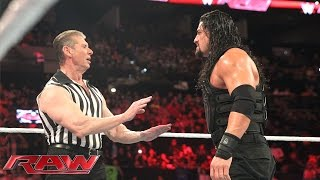 getlinkyoutube.com-Reigns vs. Sheamus - Mr. McMahon Guest Ref. for WWE World Heavyweight Title: Raw, Jan. 4, 2015